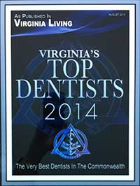 Virginia Living Magazine Top Dentist 2014
