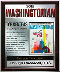 Washingtonian Magazine Top Dentist 2015