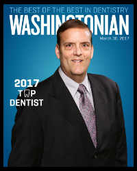 Washingtonian Top Dentist 2017 - Dr. J. Douglas Wooddell dentist in Annandale, VA near Vienna, Burke and Fairfax, VA